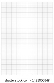 monochrome Grid Paper 2.0 cm A4 Grid And Graph scale 1:50 vector illustration