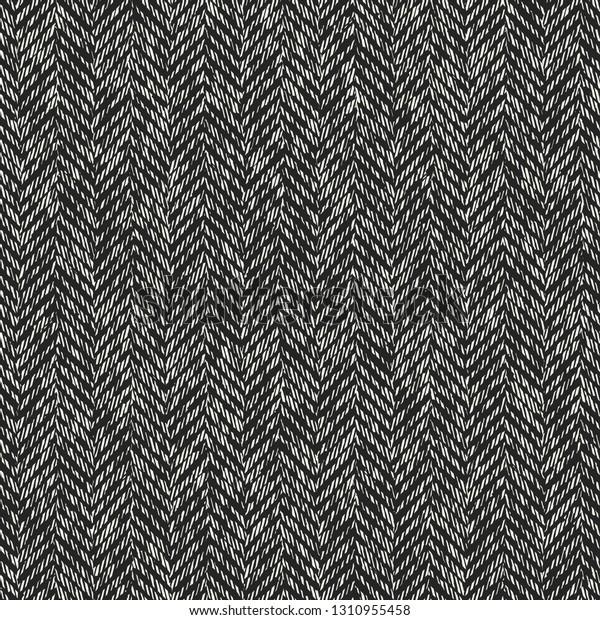 Monochrome Herringbone Brushed Textured Background Seamless Stock ...