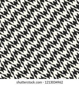 Monochrome Houndstooth Motif. Seamless Pattern.