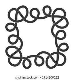 monochrome icon with Celtic knot ethnic art ornaments