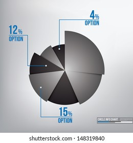 Monochrome info chart