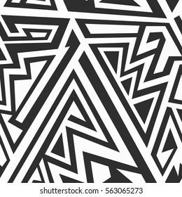 Monochrome maze patern (vector pattern eps 10)