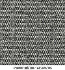 Monochrome Melange Grain Stroke Textured Distressed Background. Seamless Pattern.