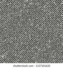 Monochrome Melange Striped Textured  Distressed Background. Seamless Pattern.
