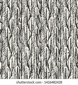 Monochrome Melange Stroke Textured Background. Seamless Pattern.