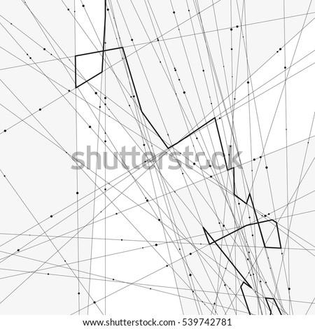Monochrome Minimalistic Vector Illustration Modern Schematic Stock
