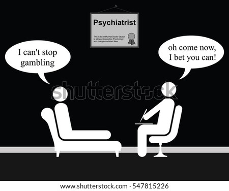 Monochrome On The Psychiatrist Couch With Doctor Quack And Gambling