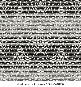 Monochrome Ornament Complexity Textured Background. Seamless Pattern.