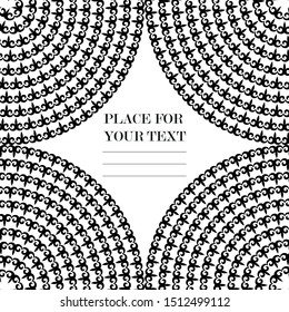Monochrome patterns. Circular Asian patterns. black and white spiral pattern. Background for the design of flyers, printing.