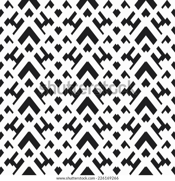 Monochrome Pixel Seamless Texture Stock Image | Download Now