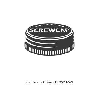 monochrome screw cap retro logo