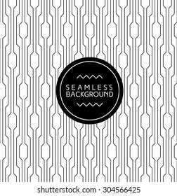 monochrome seamless art deco arabic black and white wallpaper or background with hipster label or badge