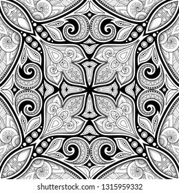 Monreale Cathedral Tile Mosaic coloring page | Free Printable ... | 280x260