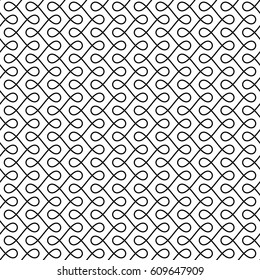 Monochrome Seamless Thin Swirls Pattern. Black and White Tileable Outline Scrollwork Ornate. Vintage Flourish Vector Background for Retro Design.