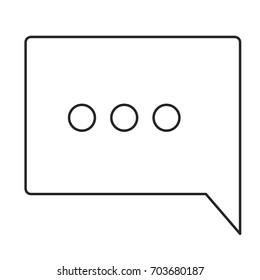monochrome silhouette of speech square with ellipsis symbol vector illustration