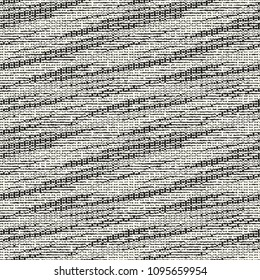 Monochrome Space-Dyed Effect Textured Background. Seamless Pattern.