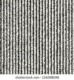 Monochrome Speckled Stroke Textured Distressed Background. Seamless Pattern.