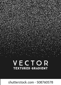 Monochrome stippled gradient texture, abstract noir background