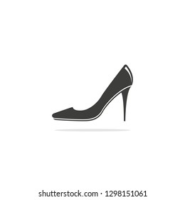 1c978e58049d Monochrome vector illustration of a women s shoe