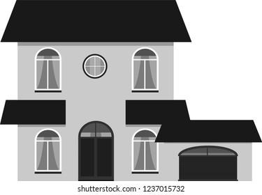 Monochrome Western style house