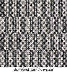 Monochrome Woven Effect Textured Broken Striped Seamless Pattern