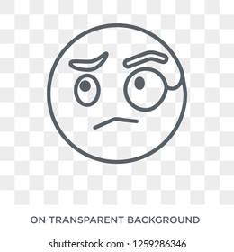 Monocle emoji icon. Monocle emoji design concept from Emoji collection. Simple element vector illustration on transparent background.