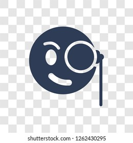 Monocle emoji icon. Trendy Monocle emoji logo concept on transparent background from Emoji collection