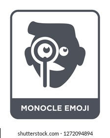 monocle emoji icon vector on white background, monocle emoji trendy filled icons from Emoji collection, monocle emoji simple element illustration