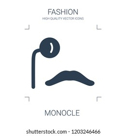 monocle icon. high quality filled monocle icon on white background. from fashion collection flat trendy vector monocle symbol. use for web and mobile