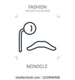 monocle icon. high quality line monocle icon on white background. from fashion collection flat trendy vector monocle symbol. use for web and mobile