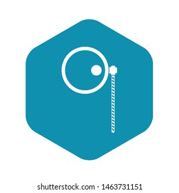 Monocle icon. Simple illustration of monocle vector icon for web
