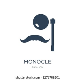 monocle icon vector on white background, monocle trendy filled icons from Fashion collection, monocle vector illustration