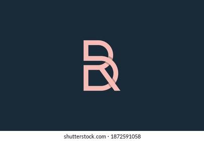 monogram connected alphabet letter BR, RB, DBR, RBD logo design