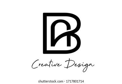Monogram Creative AB A B letters  logo. Abstract business logo design template. Initial AB BA modern monogram and elegant design.