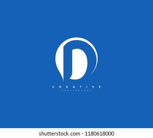 Monogram Creative Bubble Letter D Corporate Logo