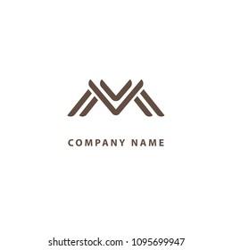 monogram design elements graceful template calligraphic elegant line art logo design letter m