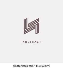 Monogram design elements, graceful template. Calligraphic elegant logo design. N logo line art monogram. Letter N on a dark background. Letter N vector logo. Business sign, identity, label, badge.