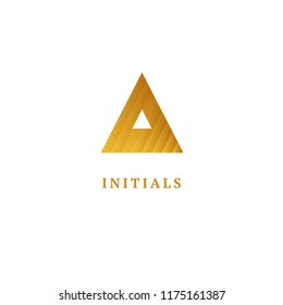 Monogram design elements, graceful template. Calligraphic elegant logo design. A logo line art monogram. Letter A on a white background. Letter A vector logo. Business sign, identity, label, badge.