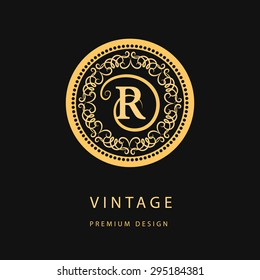 Monogram design elements, graceful template. Calligraphic elegant line art logo design. Letter emblem R for Royalty, business card, Boutique, Hotel, Restaurant, Cafe, Jewelry. Vector illustration