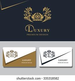 Monogram design elements, graceful template. Calligraphic elegant line art logo design. Letter emblem sign B, L for Royalty, business card, Boutique, Hotel, Heraldic, Jewelry. Vector illustration
