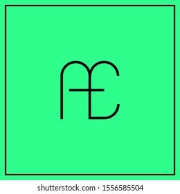 monogram design letters AE, A, E, EA logo design vector - minimal logo