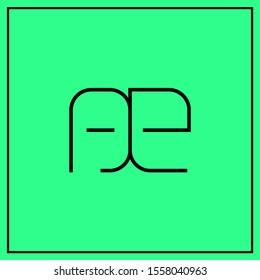 monogram design letters AE, AE, EA logo design vector - minimal logo