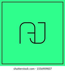 monogram design letters AJ, A, J, JA logo design vector - minimal logo