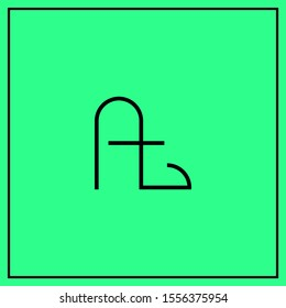 monogram design letters At, A, t, tA logo design vector - minimal logo