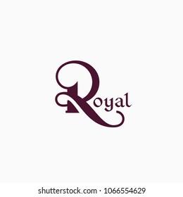 Monogram design template of letter R. Vector illustration.