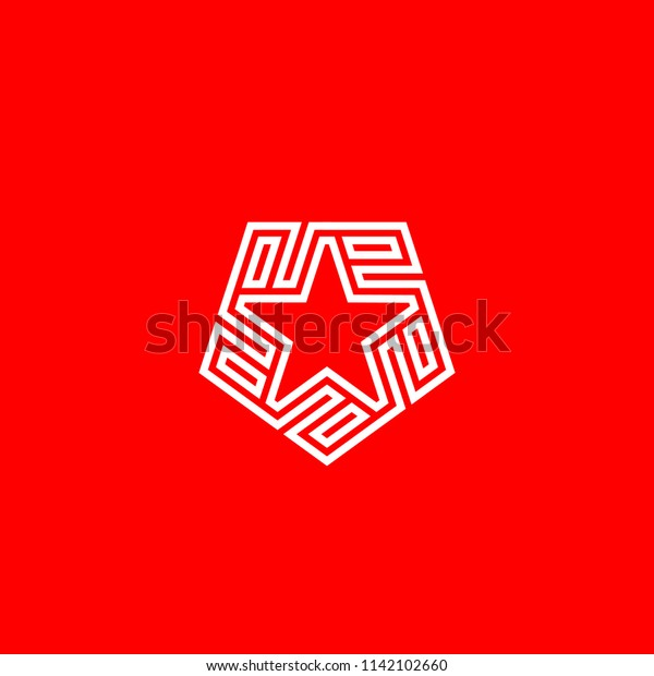 Monogram E Initial E Star Logo Stock Vector Royalty Free 1142102660