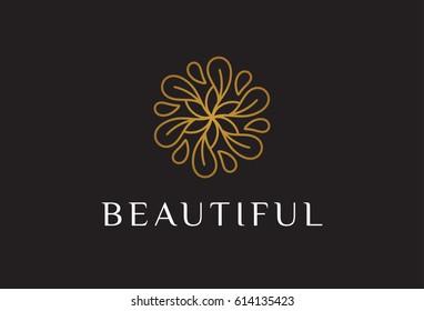 Monogram Flower Logo Template
