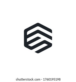 Monogram FS or Initial SF template logo design inspiration. Letters F and S or FS trendy professional logo Premium Quality symbol icon vector illustration