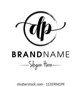 Monogram / Initial dp typography logo design inspiration vector