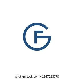 Monogram / Initial GF, CF logo design inspiration